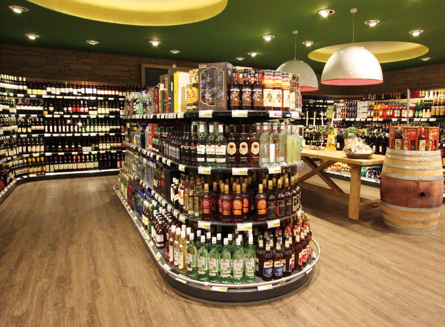 Shelves for Wines and Spirits